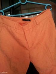 Zenske zara pantalone,3\4,jednom obucene,boja je nezno kajsijasta. - Petrovac na Mlavi