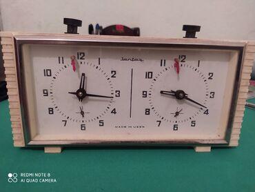 Шахматы - Кыргызстан: Продаю шахматные часы сделано в СССР янтарь