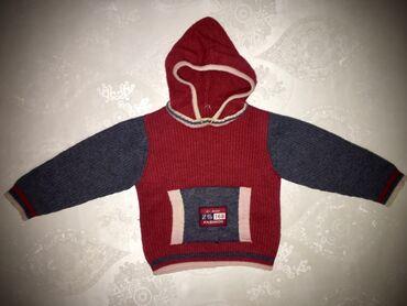 одежда детская купить в Кыргызстан: Свитер с капюшоном 100% шерсть  Возраст: 2-3 года Состояние: отличное