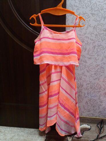 платье на лето в Кыргызстан: Легкое шифоное платье на лето. Размер 7 - 8лет