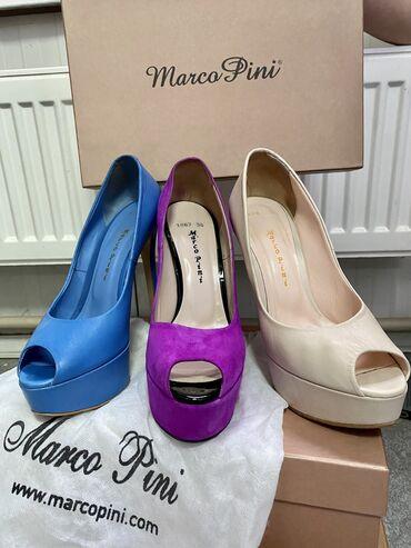 Туфли - Бишкек: Продаю туфли Marco Pinni на платформе и высоком каблуке. Одинаковая
