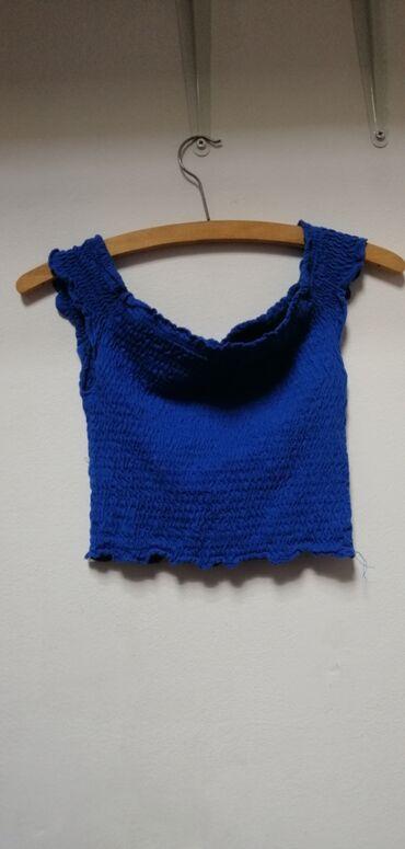Ženska odeća | Srbija: Calliope majica, malo nošenja, crop top, nosi se na ramenima, veličina