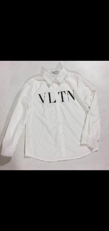 chajnik 3 l в Кыргызстан: Белая рубашка со знаменитым с логотипом VLTN Размер:M,L Отличное каче