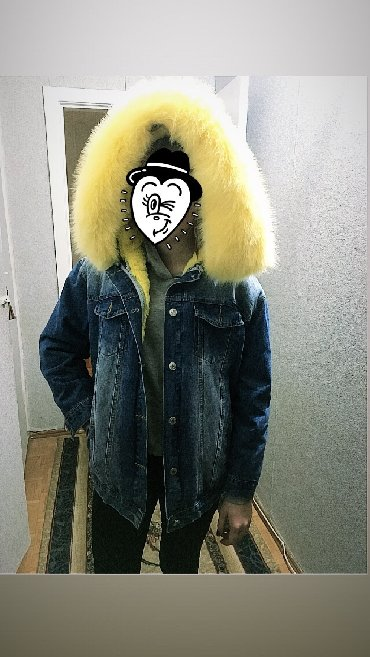 джинсовая куртка с мехом женская в Кыргызстан: Продаю новую джинсовую куртку (мех и капюшон отстегиваются) можно