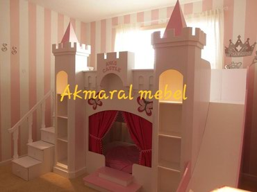 Детская мебель в Кок-Ой: Двухъярусный кровать N:045, Дворец . размер матраса 190/80см