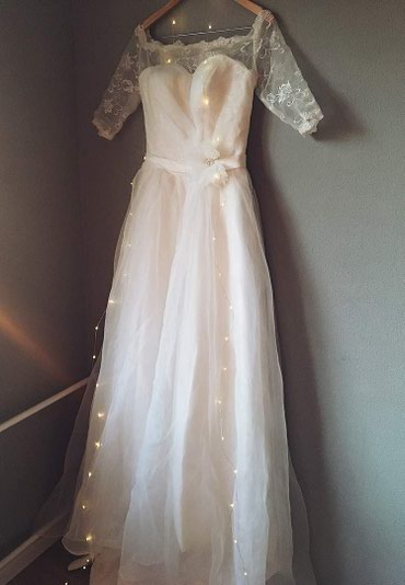 Новое свадебное платье, силуэт «А» размер 42-44