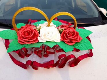 прокат машин в Кыргызстан: Кольца для оформления свадебной машины. На магнитах. Новые.Прокат