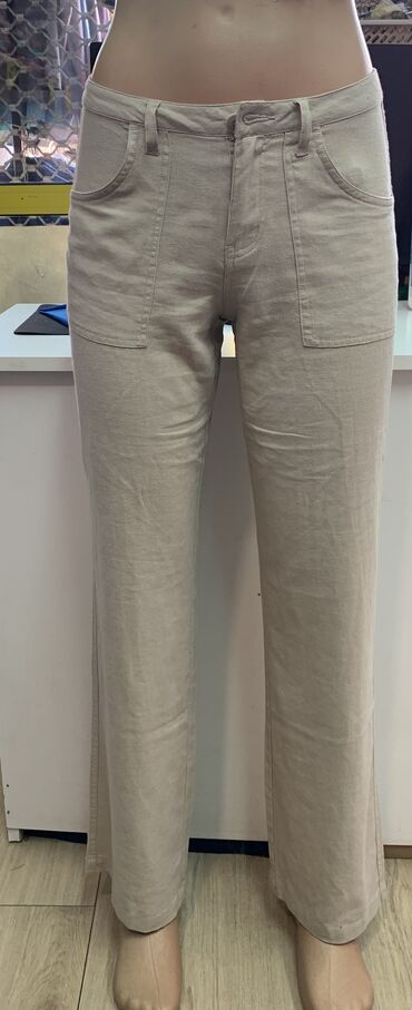 Pantalone - Srbija: Lanene pantalone nove s i m velicine ostale