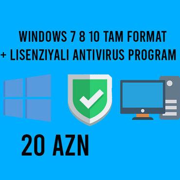 stolustu kompyuter - Azərbaycan: Windows 10 tam lisenziyali + 1 IL lisenziyali anti-virus programi