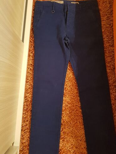 Muske pantalone, plava boja, nove