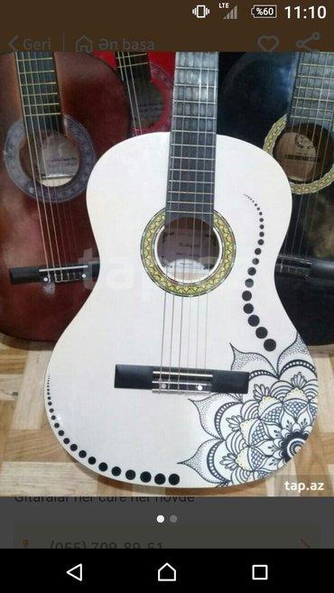 Bakı şəhərində gitaralar 75 manatdan baslayırher ölvude rar