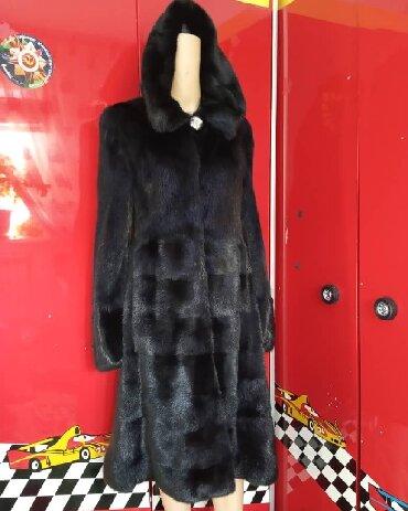 цвета норковых шуб в Кыргызстан: Норковая шуба 46 размер. Цвет черный бриллиант, капюшон-воротник