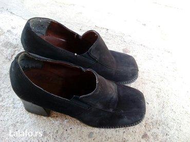Crne cipele od antilopa ocuvane i bez oštećenja br 37 - Krusevac