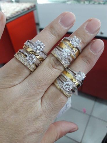 Колечки 2в1 серебро 925пробы дизайн Италия все размеры имеются в Бишкек