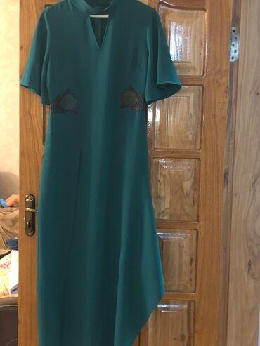Длинное платье изумрудного цвета. Производство Турция. Надевала 1 раз