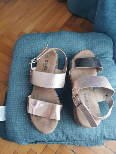 Roze-zlatne sandale sa platformom, vrlo malo nošene, veličina 36