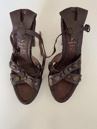Sandale-zenske - Srbija: Zenske sandale ALBA MODA KOZNE Malo koristene kao nove