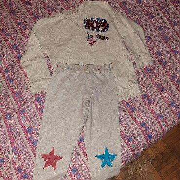 Ostala dečija odeća | Cacak: Komplet trenerka za devojcicu. vel.116 ili 6 godina