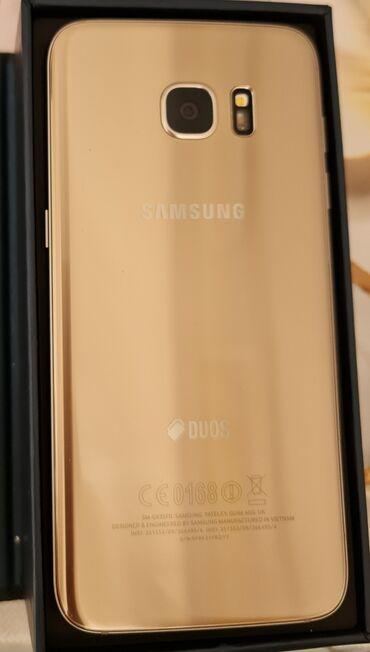s 6 edge - Azərbaycan: Samsung Galaxy S7 Edge | 32 GB | Qızılı | Sensor, Barmaq izi, İki sim kartlı