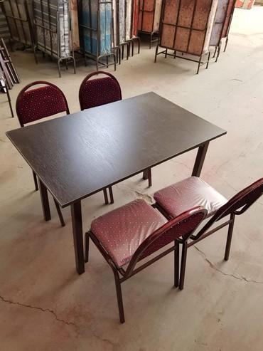 Ev və bağ Xırdalanda: Demir masa ve oturacaqlar.Yenidir, keyfiyyetlidir, Ünvana çatdirilma
