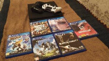 PlayStation 4 состояние хорошее.  В комплекте идёт: 2 геймпада, 6 игр