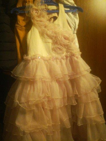 Детские платья в Кыргызстан: Платье на 6 - 8 лет на х/б подкладе супер пышное освещение иск