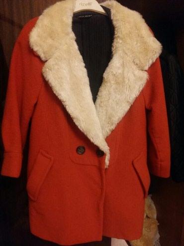 Пальто оранжевое. Стильное и яркое. в Бишкек