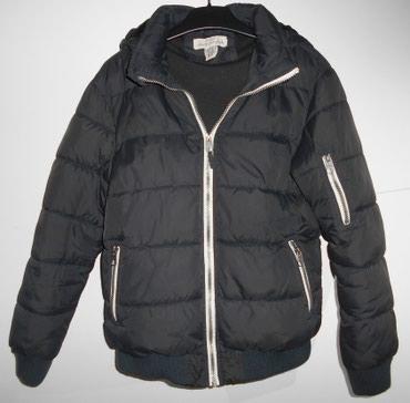 Decija muska nepromociva zimska jakna H&M crne boje, za visinu - Belgrade