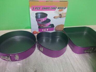 Kuhinjski setovi - Pozarevac: Set od 3 različita kalupa za kolače i torteSamo 1500 dinara.Porucite