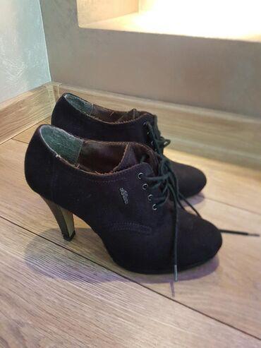 Ostalo | Beograd: Prelepe cipele,sOliver,broj 38,crne,brusena koža,odličan