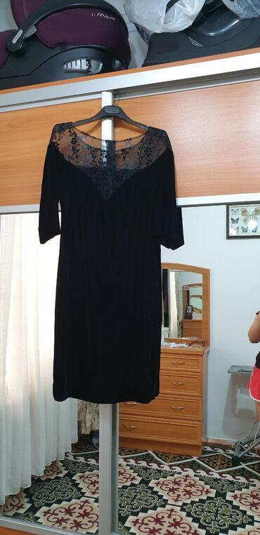 платья из велюра в Кыргызстан: Продаю коктейл.платье угольно черный, королевский велюр! Шили на