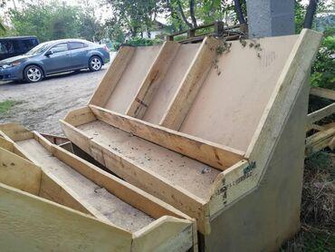 стеллаж полки для материалов в Кыргызстан: Срочно продаются деревянные полки стеллажи. Размеры 175х125х80. Есть т