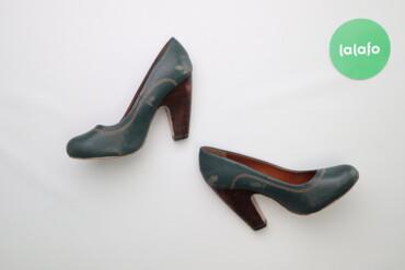 Женская обувь - Украина: Жіночі туфлі на широких підборах, р. 38     Висота підбора: 9 см  Стан