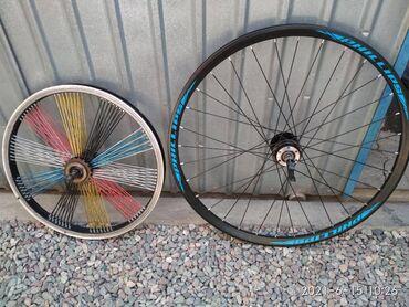 Продаю два колеса на велосипед б/у, 26 размер переднее под дисковый