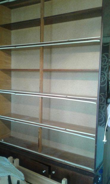мойка-со-шкафом в Кыргызстан: Книжный шкаф, размер 240 на 140см. Со стёклами. Есть 2 таких