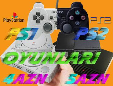 İstənilən PlayStation 1 Və PlayStation 2 Oyun Diskləri Var.Hər Biri