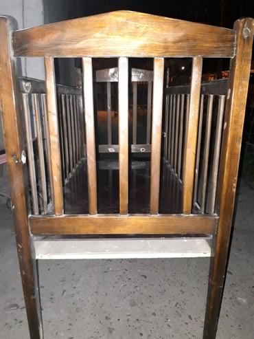 Продам советскую кроватку в нормальном состоянии. Матрас в подарок. в Бишкек