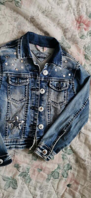Decija teksas jakna. Za devojcicu od 6-7 godina