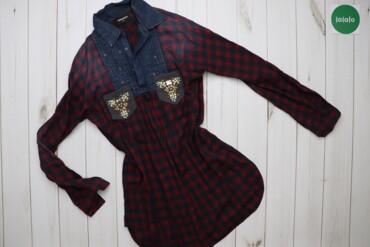 Жіноча сорочка у клітинку зі Сваровські Dsquared, р. L   Довжина: 76 с