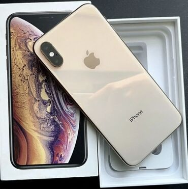 Apple Iphone - Состояние: Б/У - Бишкек: Б/У iPhone Xs 64 ГБ Золотой