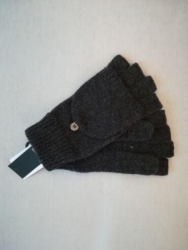 Muske rukavice, marka H&M, sive boje, S/M i L/XL velicina, od