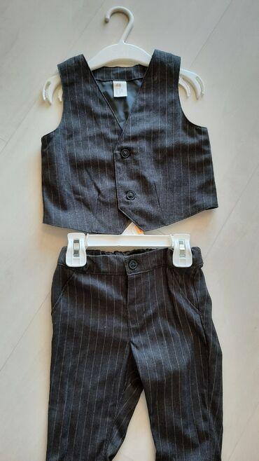 Svecane pantalone - Srbija: H&M novi svecani komplet za bebu. Velicina 80, uzrast 1 godina