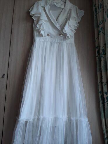 бу вечернее платье размер 46 в Кыргызстан: Белое платье один раз было одето подойдёт беременным кормящим размер