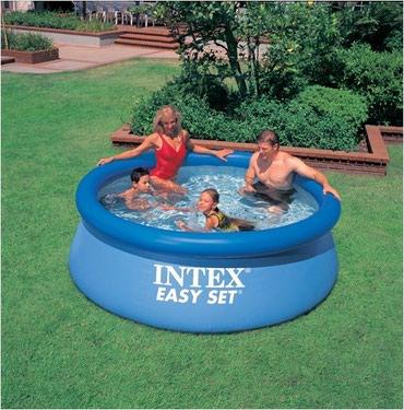 Бассейн компании Intex !  Размер ширина 2.44 высота 76