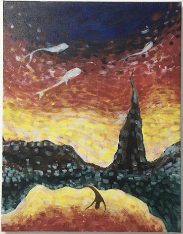 Продаю картину Акрил, 35х45 «Непонятные мысли», 2020