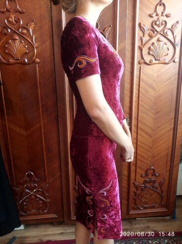 Женская одежда - Кашка-Суу: Двойка из королевского материала с кыргызскими орнаментами!Очень