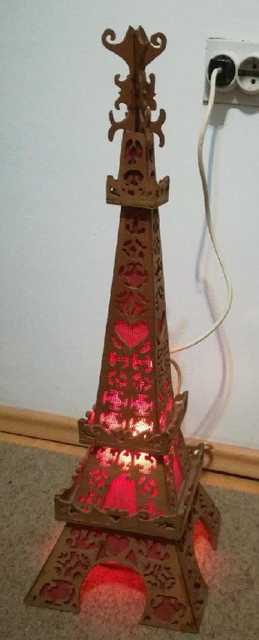 Kais-cm - Srbija: Ajfelov toranj šper ploča, ručno rađen, visina 66 cm, postolje 20x20