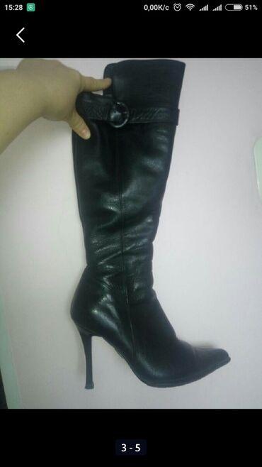 отдам даром обмен в Кыргызстан: 37-38 - женские сапоги - ботфорты, зимние, Турция, натуральная кожа