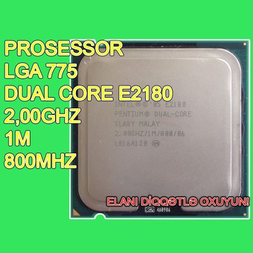 """Bakı şəhərində Prosessor """"Dual Core E2180"""" (İşlənmiş)"""