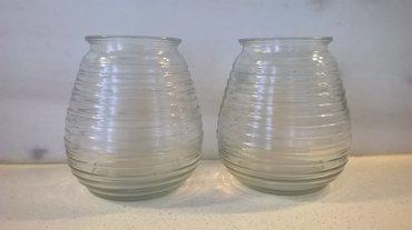 2 γυάλινα βάζα ( για διάφορες χρήσεις )  διαστάσεις: ύψος 11,50 εκατ. σε Athens